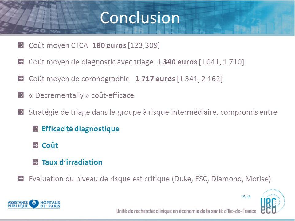 Conclusion Coût moyen CTCA 180 euros [123,309]